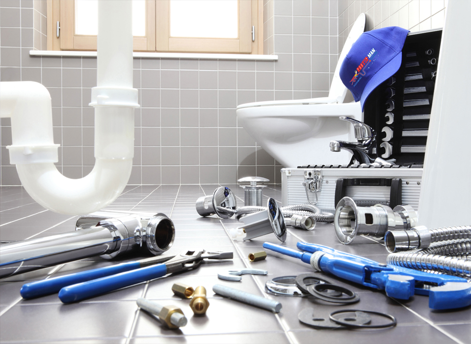 Clogged Toilet Plumbing & Drain Cleaning Equipment